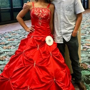Red size 2 pageant dress